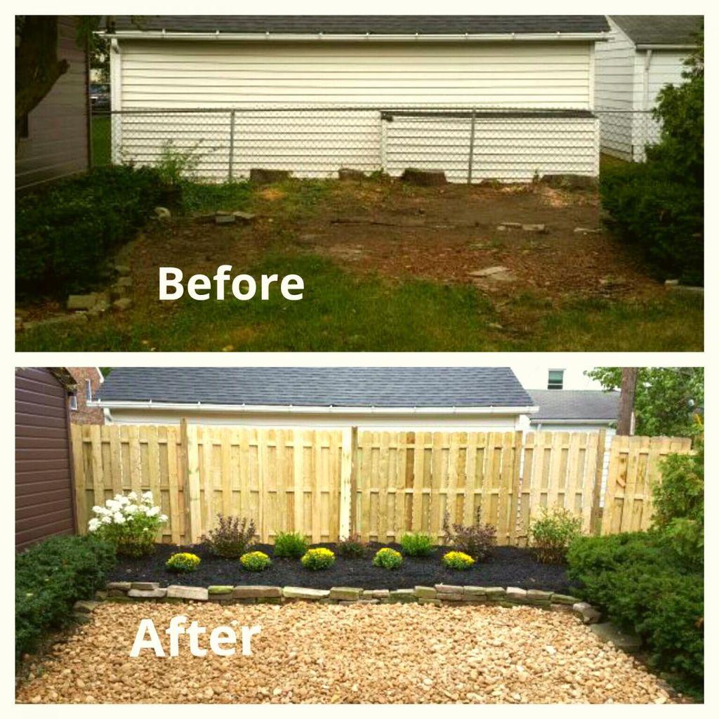 Back yard renovation