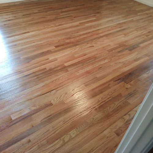 install sand and finish hard woods
