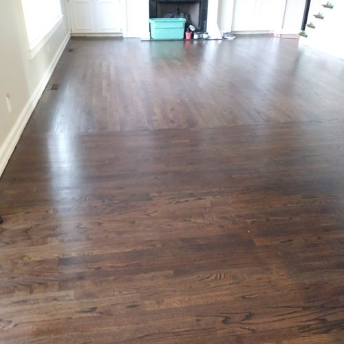 install sand and finish of hard woods