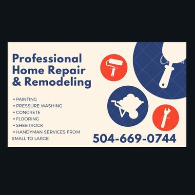 Avatar for Professional Home Repair & Remodeling Harvey, LA Thumbtack