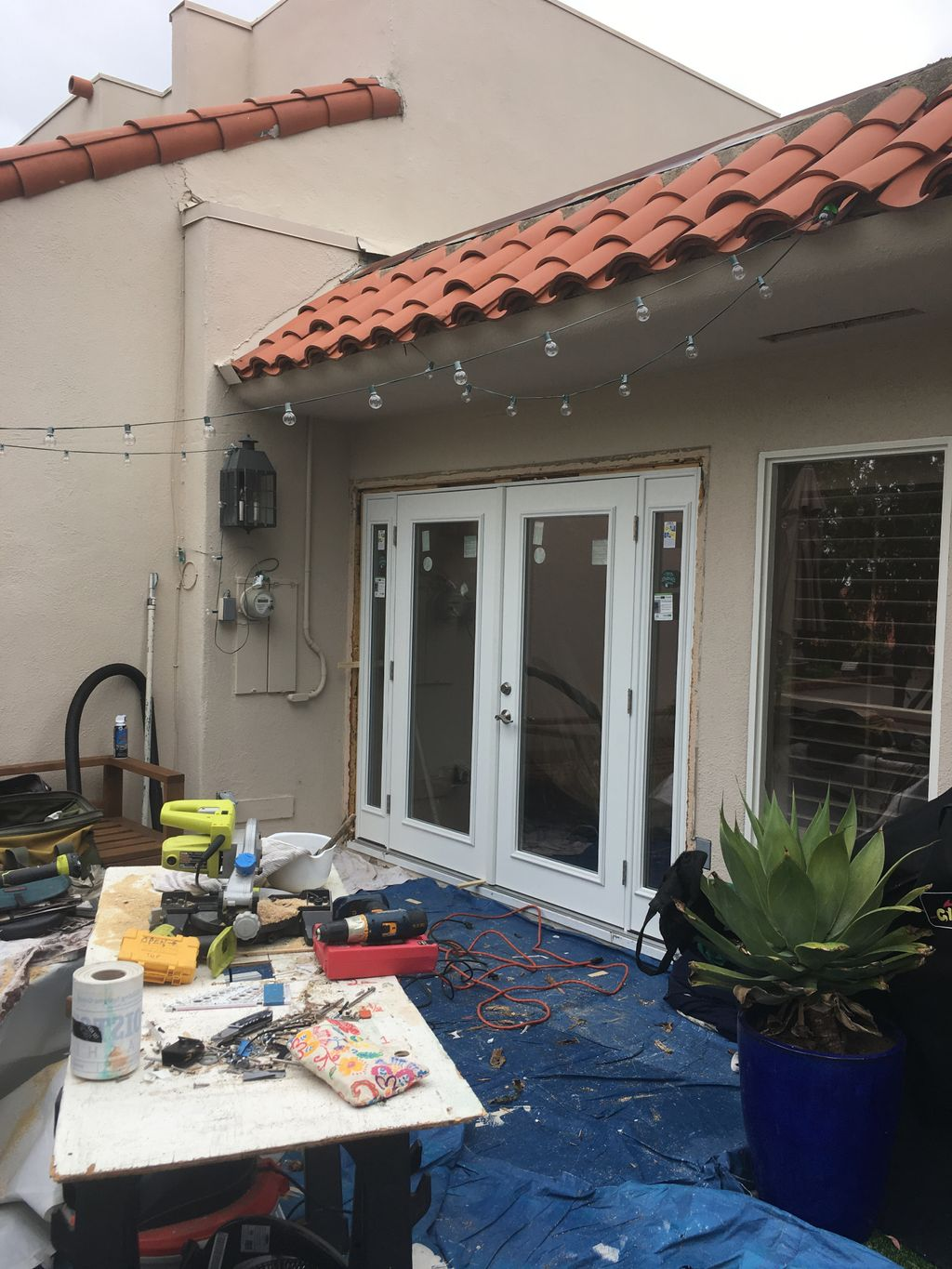 New Outswing Patio French Doors with Sidelights
