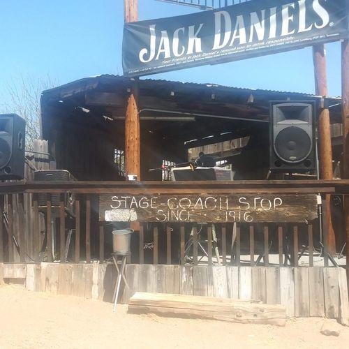 "Outside at Jake's Corner, AZ, 15"" 1200 watt passive PA system"