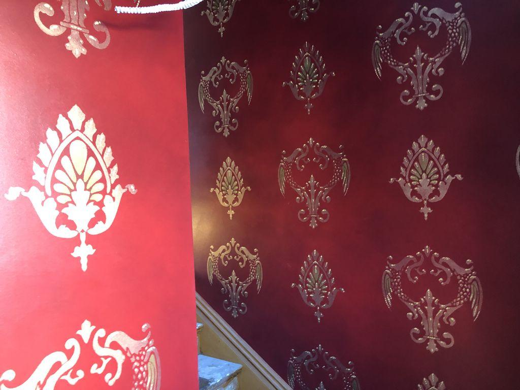 Wall stencil restoration