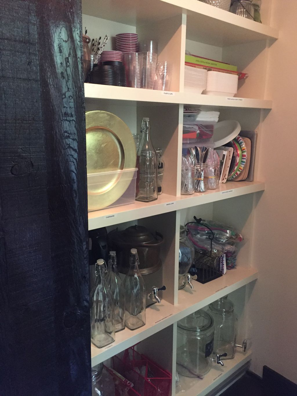 Party supply storage