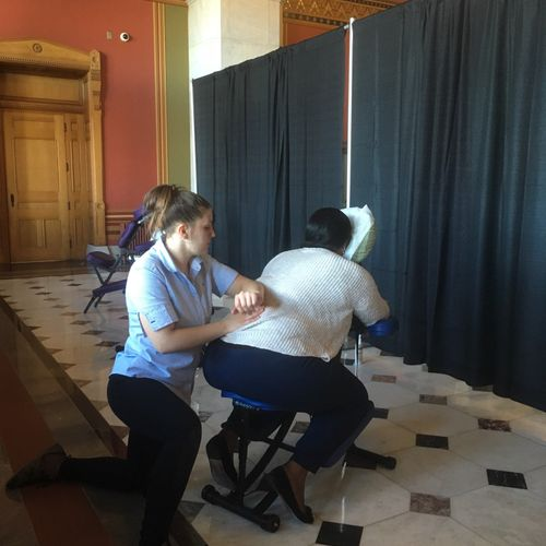Participated at local Chair Massage Event