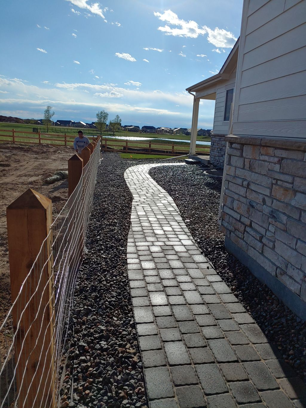Sod, landscaping rock installation,sprinkler installed