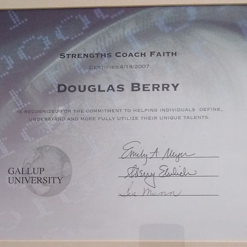 Gallup certification strength faith coach, coaching strengths in a Christian context