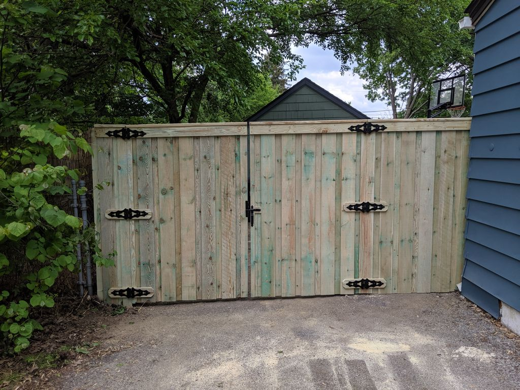 Pressure treated privacy fence
