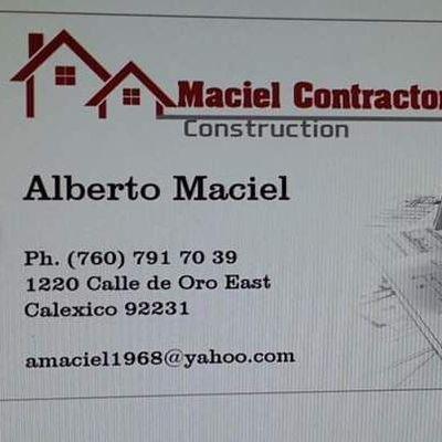 Avatar for Maciel Contractors Construction Calexico, CA Thumbtack