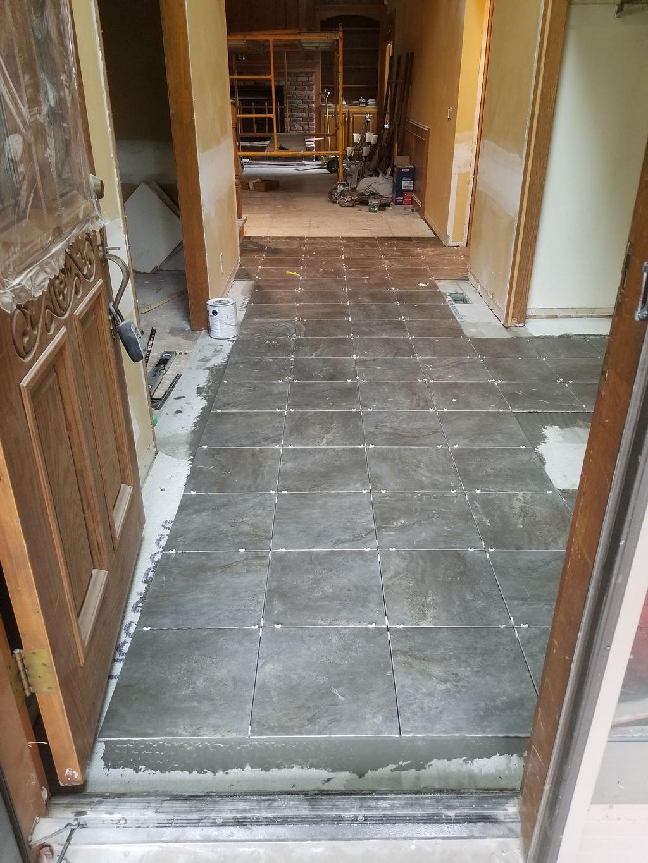 Tiled entryway