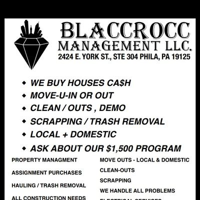 Avatar for BLACCROCC MANAGEMENT LLC. Philadelphia, PA Thumbtack
