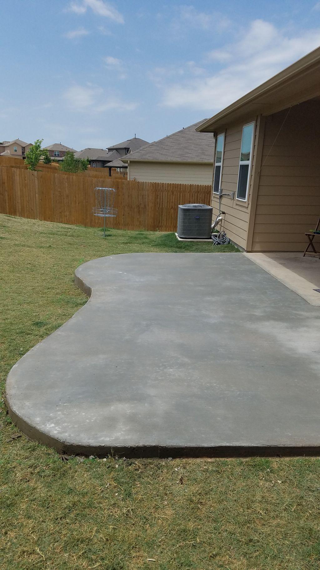 Concrete Patio Addition