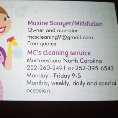 Avatar for MC's cleaning service