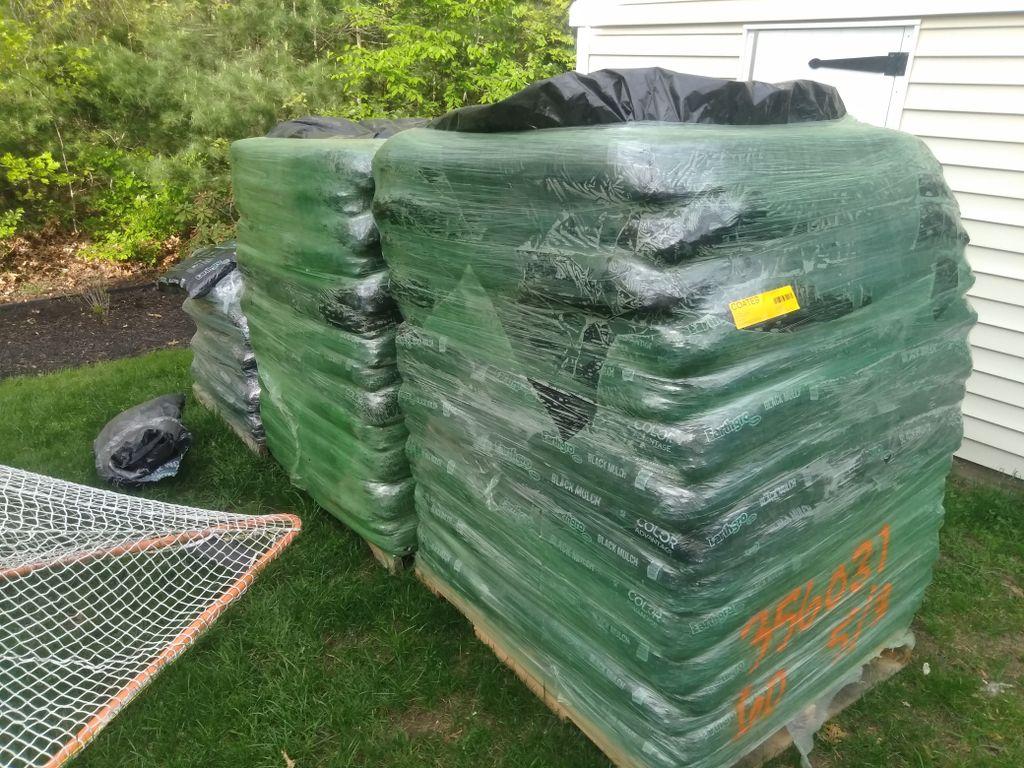 Fresh mulch and weeding throughout