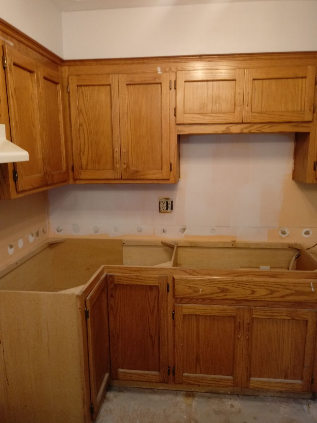 Town home cabinet salvage, upgrade