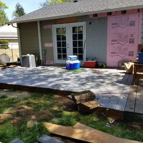 New roof, windows, french door, siding and interior remodeling