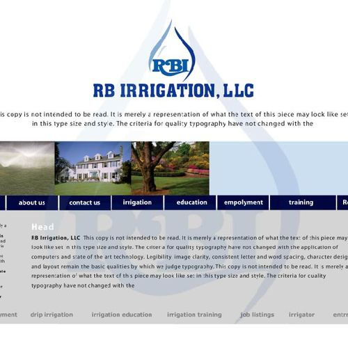 Website for Irrigation Company
