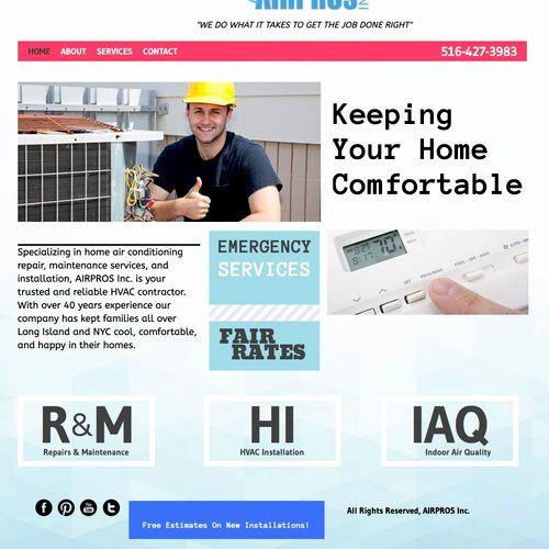 Website for HVAC Company