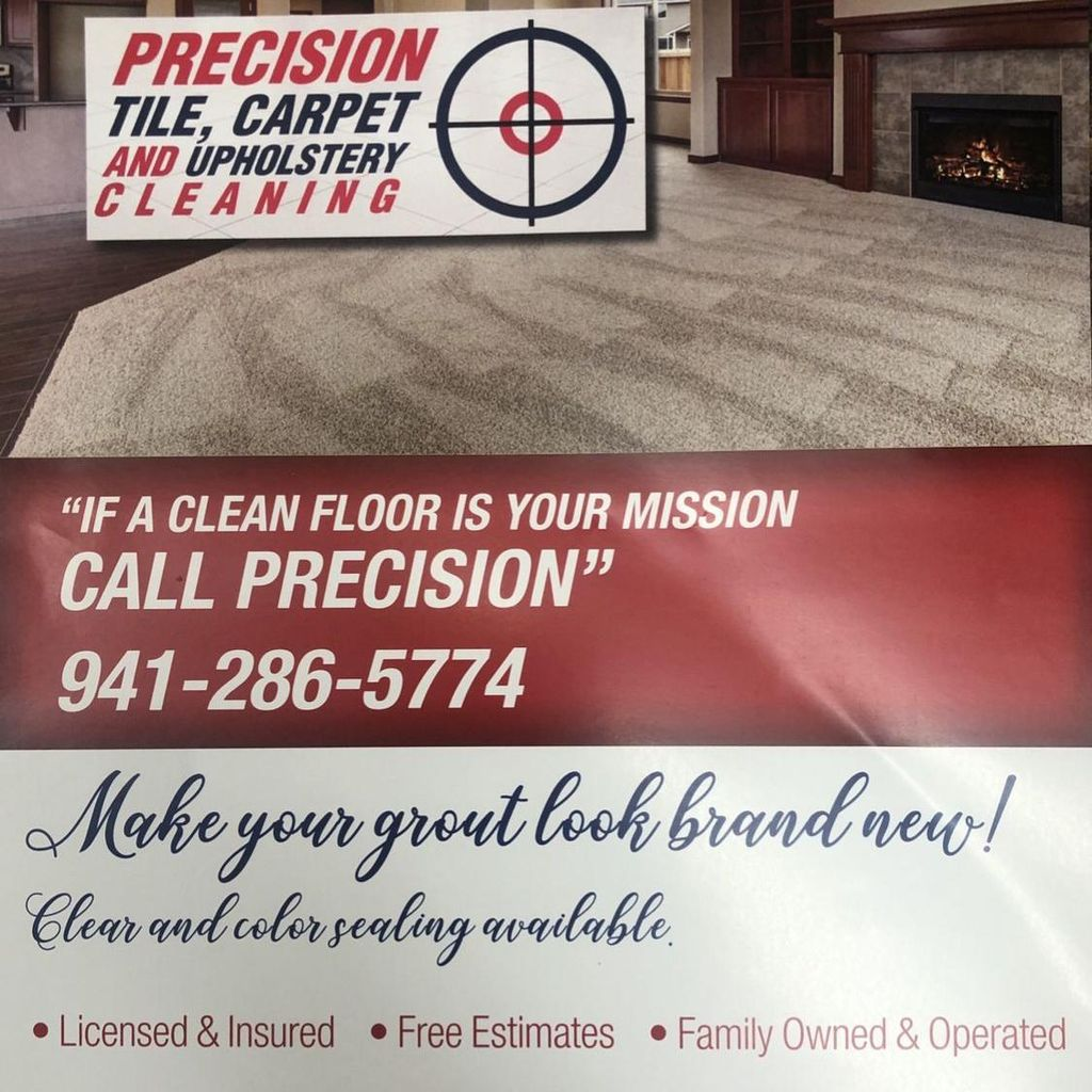 Precision tile, Carpet and Upholstery Cleaning