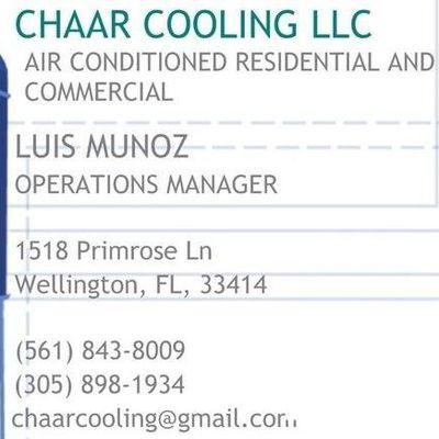 Avatar for CHAAR COOLING LLC West Palm Beach, FL Thumbtack