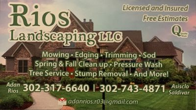 Avatar for Rios Landscaping New Castle, DE Thumbtack