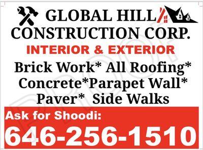 Avatar for Global Hill Constructions 646/256/1510 Bronx, NY Thumbtack