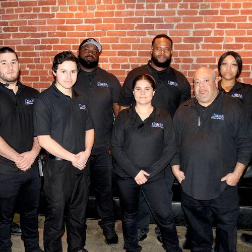 A bar nightclub security team