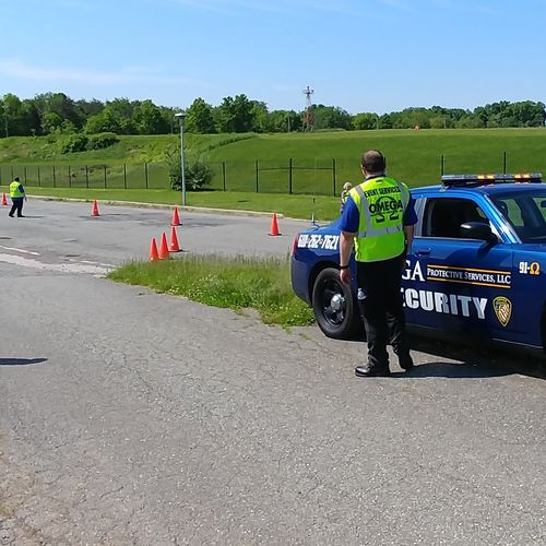 Traffic event services at a marathon