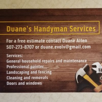 Avatar for Duane's Handyman Services LLC Rochester, MN Thumbtack