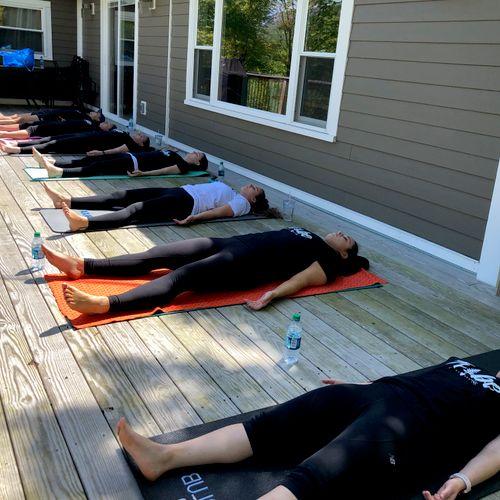 Bachelorette Yoga Party