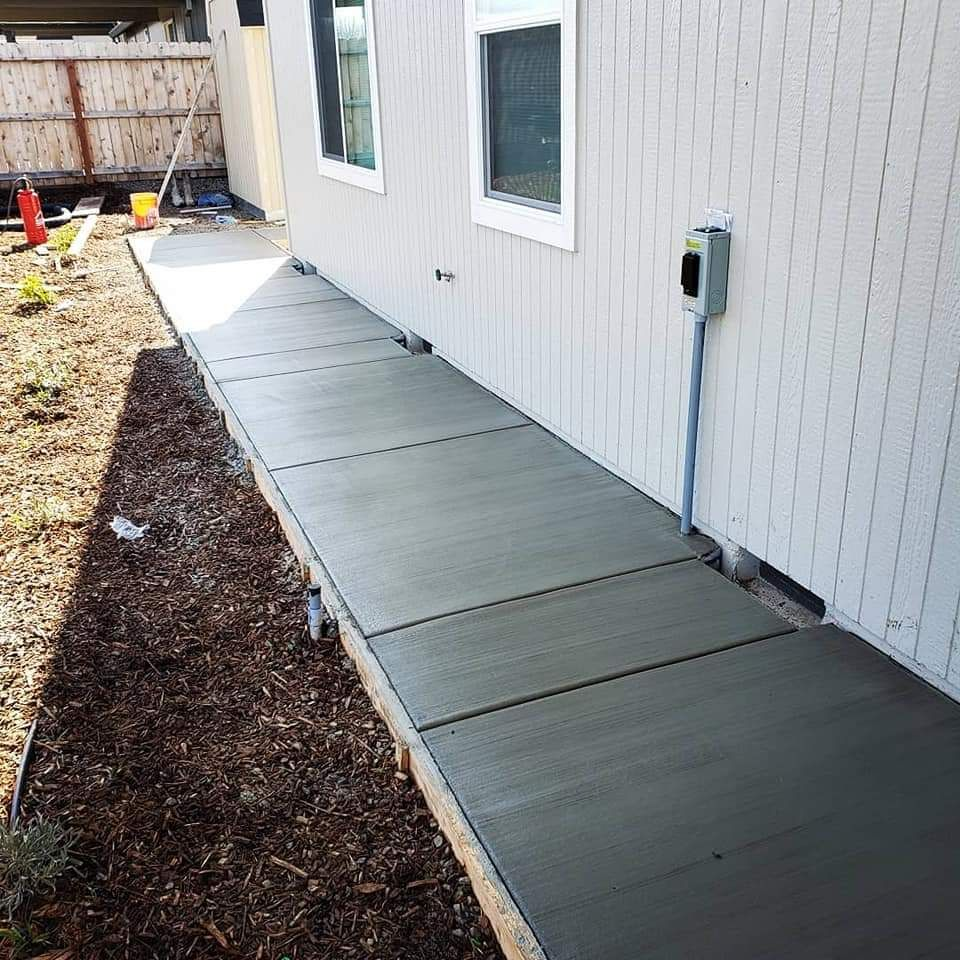Driveway extension and walk way
