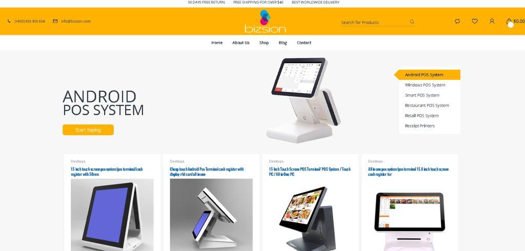 Bizsion Ecommerce Website