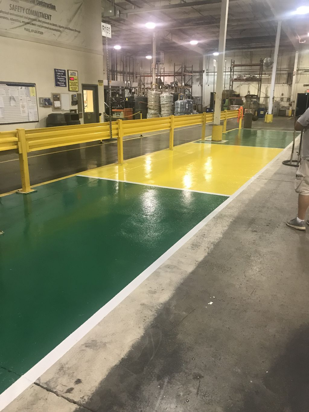 Repair and epoxy coat industrial area