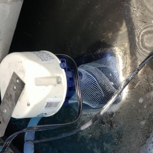 replaced pump