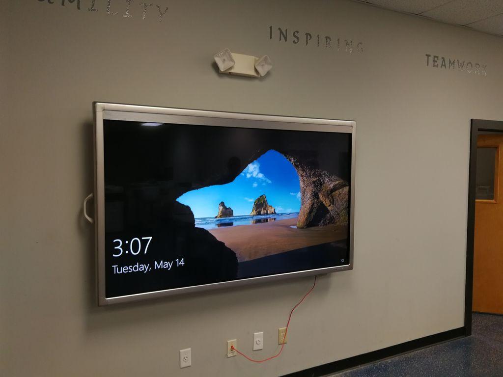 Large digital whiteboard mounting