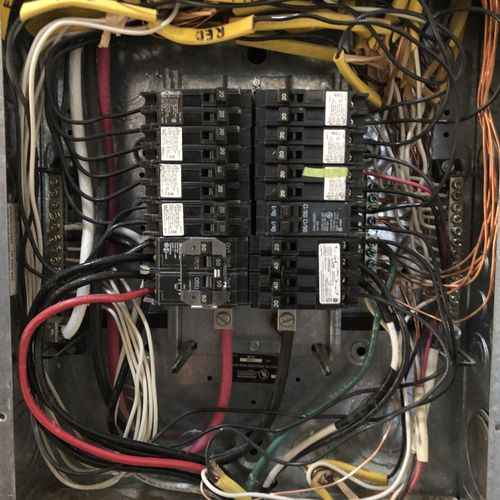 After fixing the double lugging of the neutral wires.