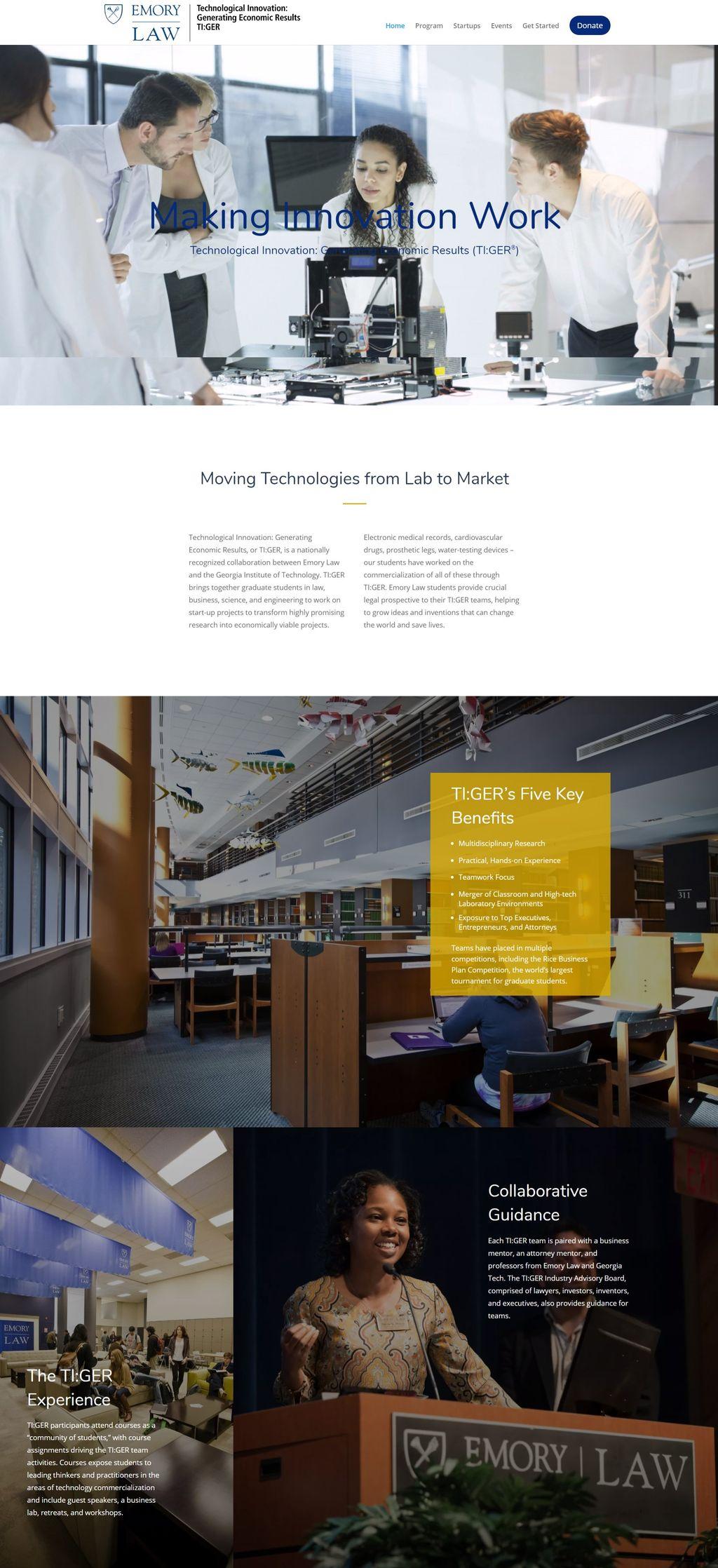 Emory University School of Law TIGER Program