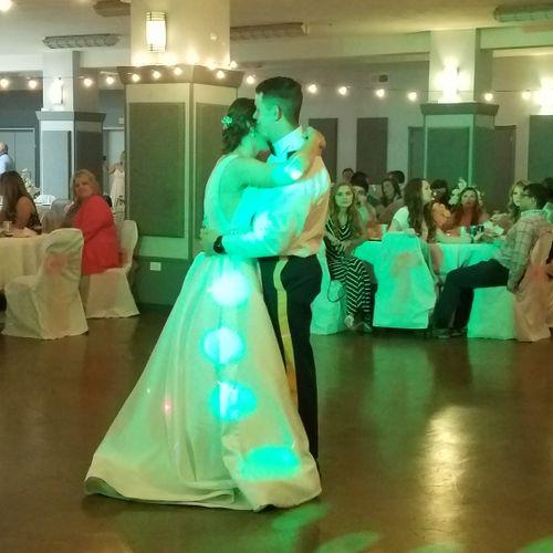 Wedding reception for Michael and Ashley Adams in Ashland, KY.