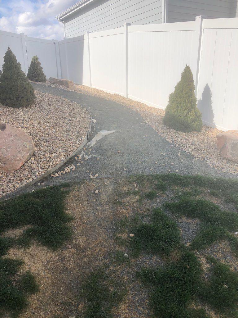 Steps to back yard