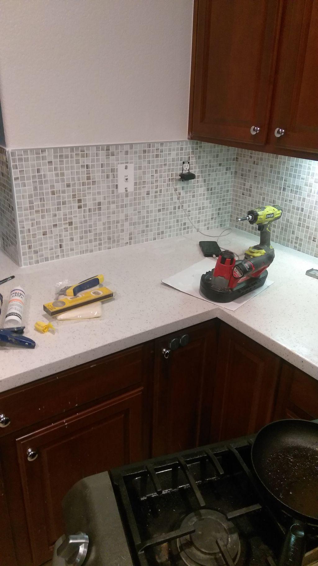 Counter top and backsplash