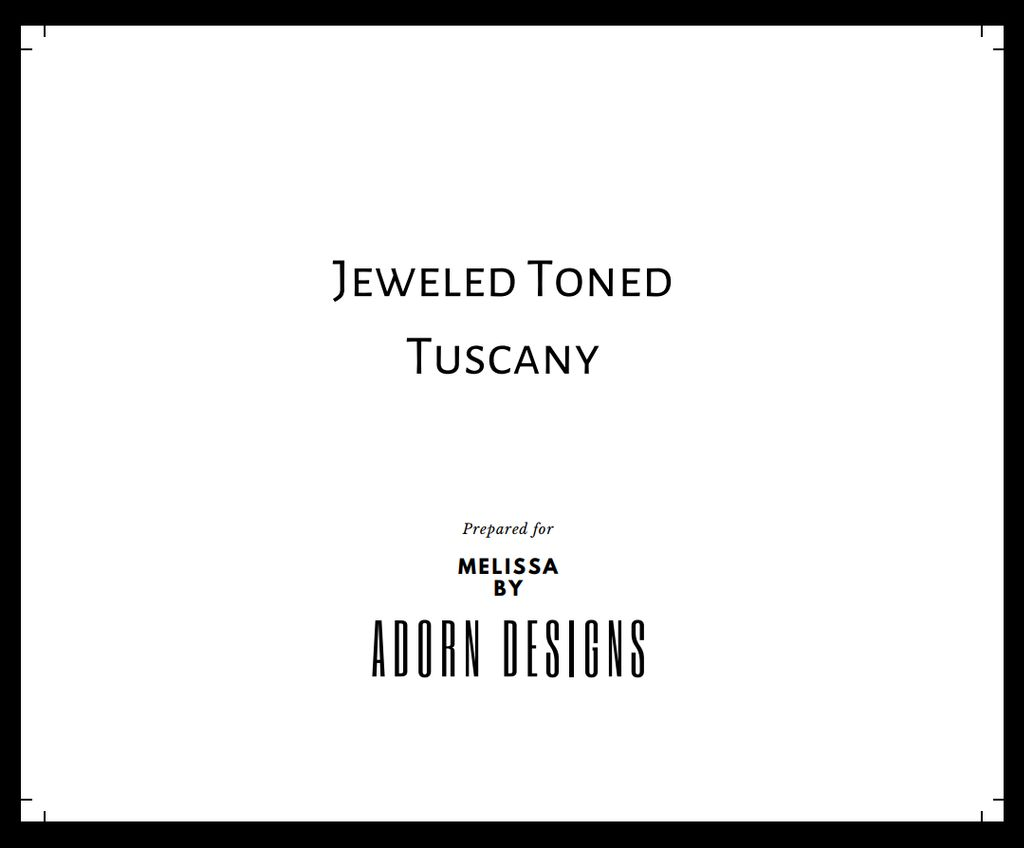 Jeweled Toned Tuscany