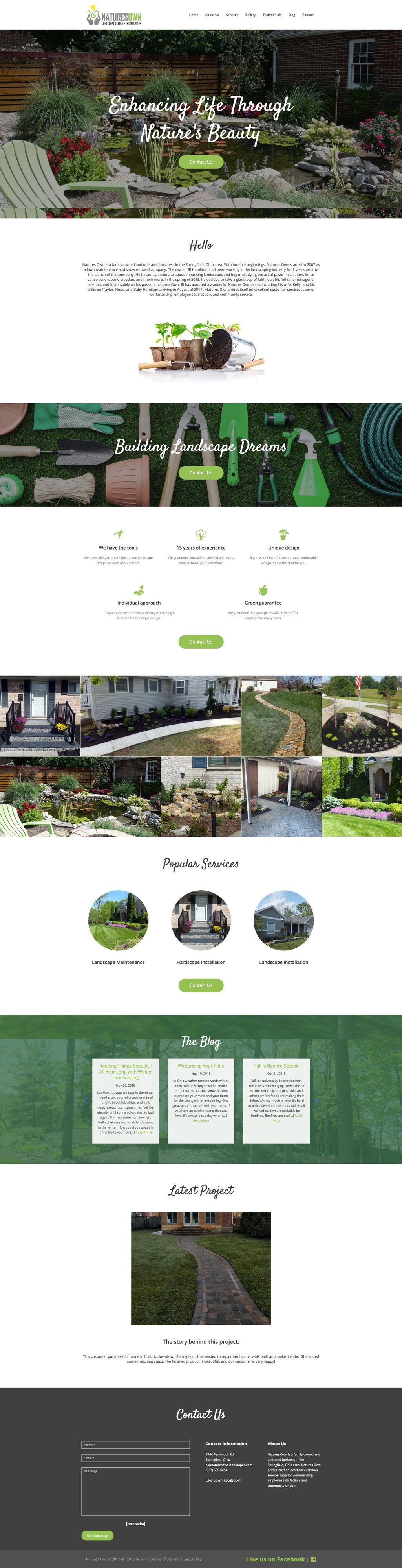 Landscaping Business Website Redesign