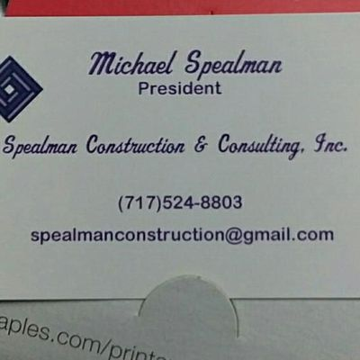 Avatar for Spealman Construction & Consultants, Inc. East Berlin, PA Thumbtack