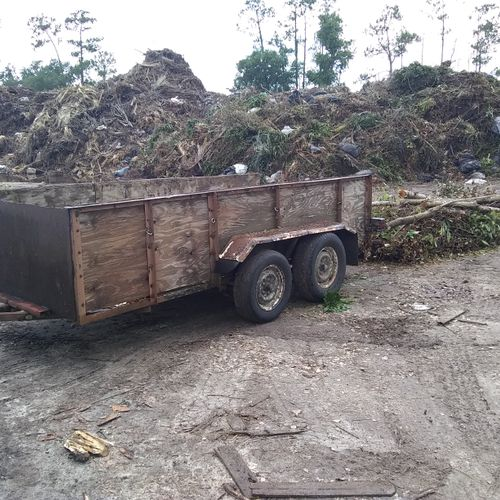 off loading complete/cheaper than a dump trailer.