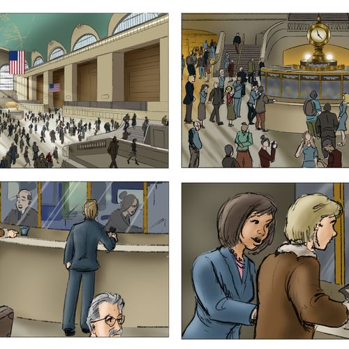 An example of my storyboard work