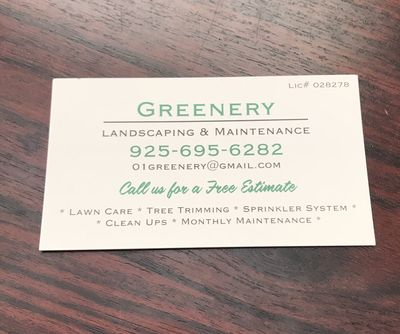Avatar for Greenery Landscaping & Maintenance Pittsburg, CA Thumbtack