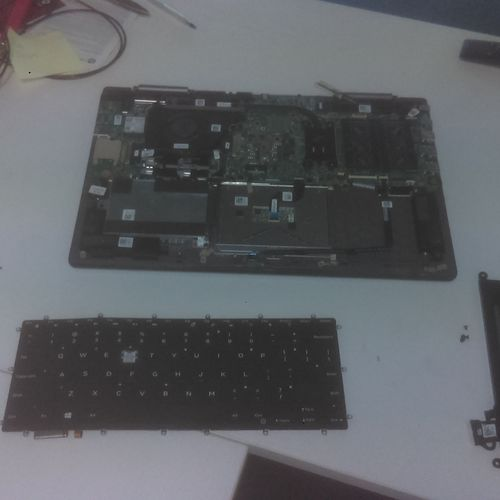 Replacement of defective keyboard.