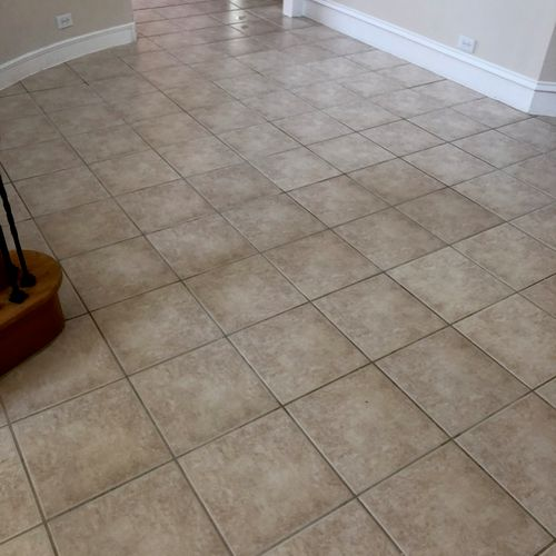 Freshly cleaned tile