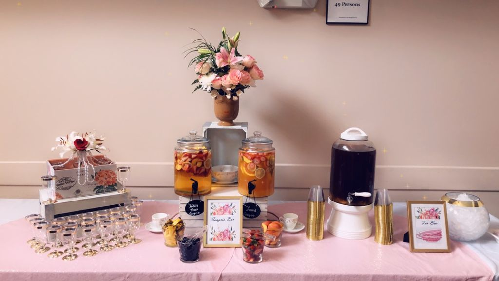 Sangria Bar for bridal tea party