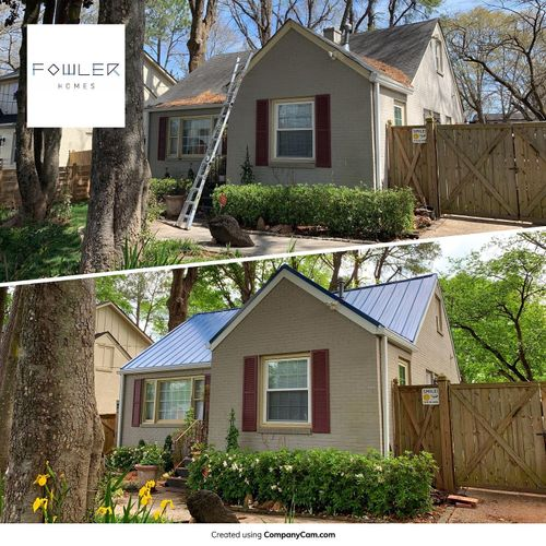 Standing Seam Roof, New Fiber Cement Fascia and Seamless Gutters in Decatur GA